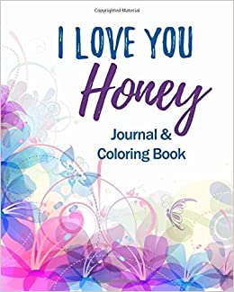 com i love you honey journal coloring book christian