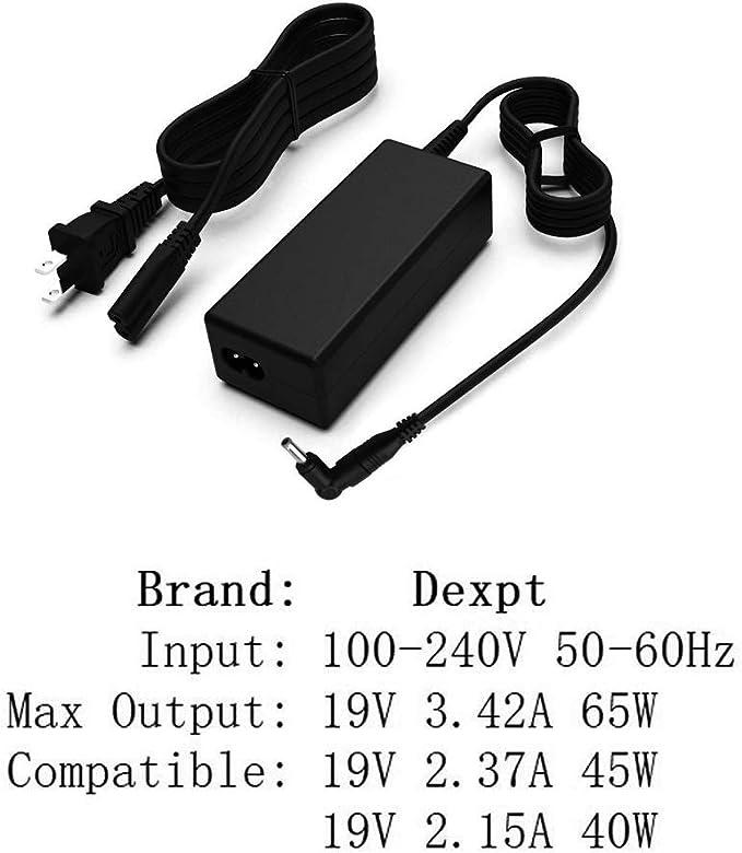 65W 19V 3.42A Acer Aspire S3-392 Cargador portátil compatible con 3.0*1.0mm Adaptador de CA