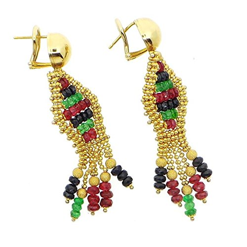 Boucles d'oreilles Savoia Femme Or _ 750/_ g _ or or jaune pierres dures