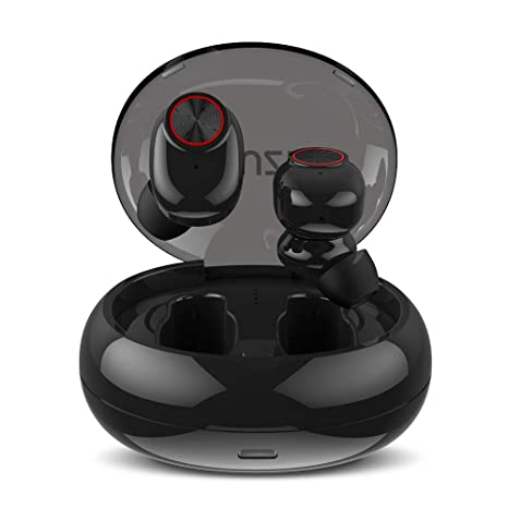 Muzili Auriculares Bluetooth Auriculares Bluetooth Inalámbricos IPX5 Cascos Deportivos Audífonos con Estuche de Carga 500mAh Más