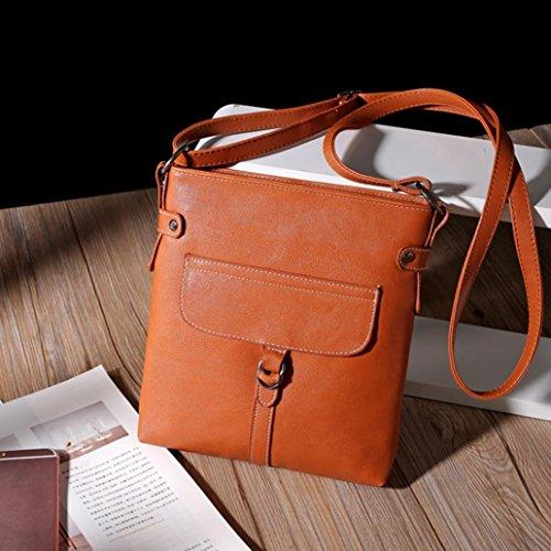 Handbag Ladies Familizo Leather Body Messenger Satchel Brown Shoulder Bag Handbag Cross HqzCz