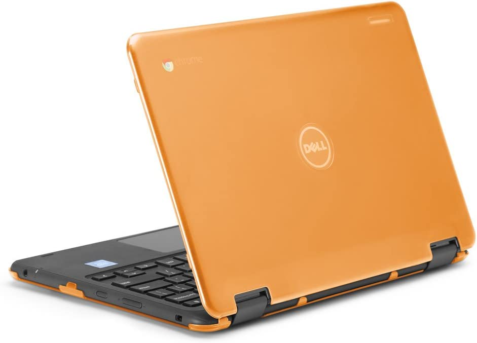 """mCover iPearl Hard Shell Case for 2017 11.6"""" Dell Chromebook 11 3189 Series 2-in-1 Laptop (NOT Compatible with 210-ACDU / 3120/3180 Series) - 3189 Orange"""