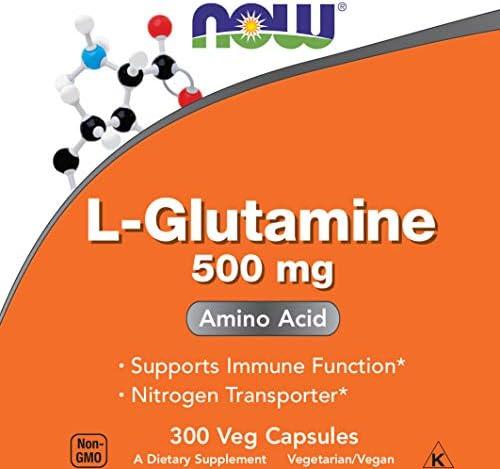 Now L Glutamine 500 300 Capsules product image