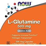 Now L-Glutamine 500 mg, 300 Veg Capsules