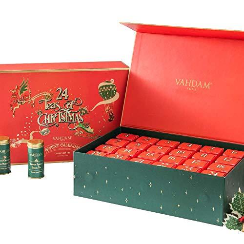 VAHDAM, Holiday Advent Calendar 2020 Tea Gift Set   24 Varieties of Teas in Tea Sampler Gift Box   OPRAH's FAVORITE TEA   100% Natural Ingredients   Best Tea Gift Set for Anytime