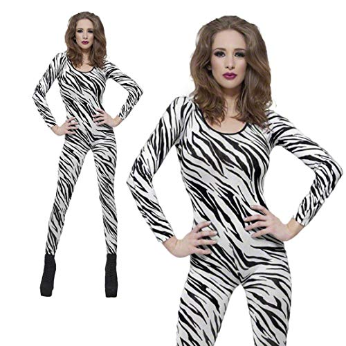Smiffys Zebra Print Bodysuit