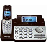 Vtech DS6151 Dect 6.0 2-Line Expandable Cordless Phone with Digital Answering System and Caller ID, Silver [CD-ROM] (Office Product)