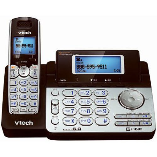 Vtech DS6151 Dect 6.0 2-Line Expandable Cordless Phone - One Line Portable Phone