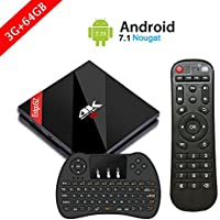 [ Powerful 3G / 64G Android 7.1 TV BOX ] H96 Pro Plus Smart Set Top Box with Wireless Keyboard Controller Amlogic S912 Octa Core CPU 4K Ultra HD Mini PC Supports Dual-WiFi 2.4GHz / 5GHz and 1000 LAN