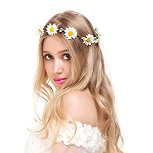Valdler Exquisite Flower Crown Flower Headband for Spring Tourism Wedding Festivals Party Perfect Mother's Day Gifts