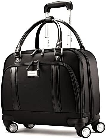 Samsonite Luggage Women's Spinner Mobile Office (One Size, Black / Chrome)