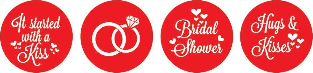 Darling Souvenir Candy Favor Bridal Shower Party Theme/Hersheys Kisses/Stickers 190 Pcs-Glitter Gold