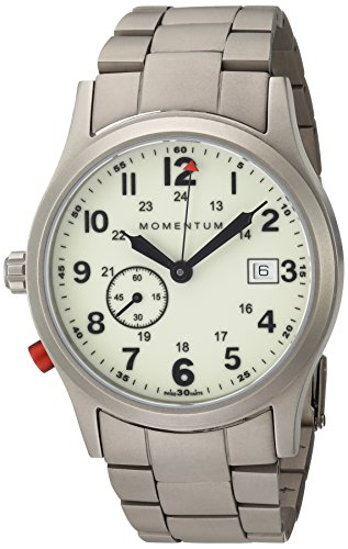 - Momentum Men's Swiss Quartz Titanium Dress Watch, Color:Grey (Model: 1M-SP60L0)