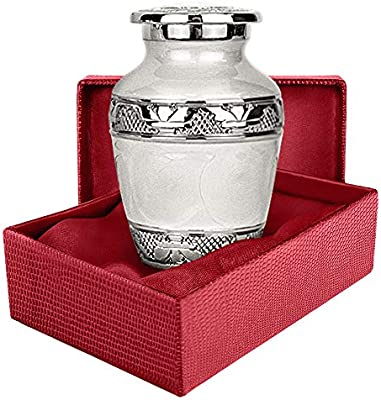 Wings of Love Elegant Small Cremation Urn for Human Ashes|A Beautiful /& Timeless Urn to Honor The One Your Love|Find Comfort Everytime You Look at This Urn with Beautiful Red Velvet Box.