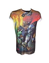 NINTENDO Legend of Zelda Sublimation Print Link Fight Men's T-Shirt (X-Large)