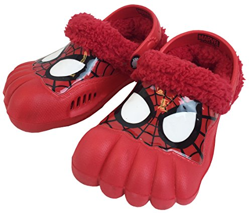 Image of Spiderman Marvel Ultimate Spider-Man Boys' Fleece Activity Clogs (7/8, Spidey Eyes)