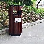 Cubos-de-Basura-para-Exterior-Madera-al-aire-libre-bote-de-basura-saneamiento-Papeleras-gran-Peel-Cubo-de-la-basura-Bin-parque-Papelera-Papelera-de-reciclaje-con-cenicero-Basura-y-reciclaje-Cubos-de-b