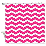 Hot Pink Chevron Shower Curtain CafePress Hot pink chevron Shower Curtain Decorative Fabric Shower Curtain (69
