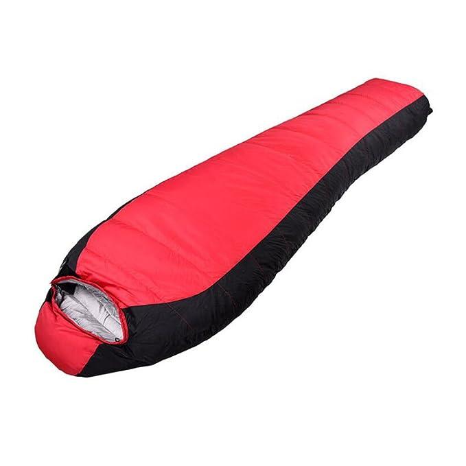 NINI Saco De Dormir Al Aire Libre Momificado Tipo Edredón Peso Ligero Saco De Dormir Cuatro Estaciones Universales De Camping, Senderismo, Conducción, ...