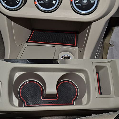 . 8pcs Custom Fit Cup Holder and Door Liner Accessories Fits For Mitsubishi Lancer EX Sport 2008-2015
