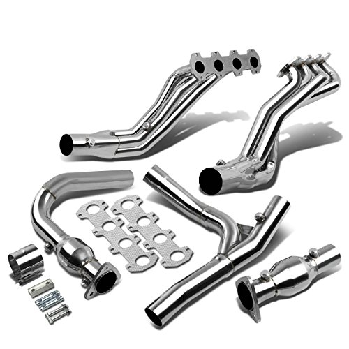 F150 Long Tube Headers - For Ford F-150 RWD 5.4L High Performance Stainless Steel Long Tube Exhaust Header + Y-Pipe