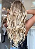 """LaaVoo 14"""" Straight Tape in Human Hair Extension Balayage Color Light GoldenBrown to MediumBlonde and LightBlonde Skin Weft Real Human Hair 2.5g/pcs 15pcs+5pcs for free, 20pcs/50g in Total"""