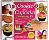 18 Piece Cookie & Cupcake Decorating Kit - Twin Stripe Icing Bottle! by PMSÃ'Â