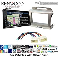 Volunteer Audio Kenwood DNX574S Double Din Radio Install Kit with GPS Navigation Apple CarPlay Android Auto Fits 2011-2014 Kia Sportage (Silver)