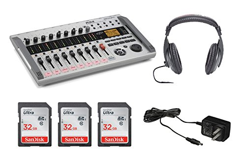 Zoom R24 Digital Multitrack Recorder + (3x) Sandisk 32GB Memory Cards + Zoom AD-14 AC Adapter + 1GB SD Card + 2GB USB Memory Stcik