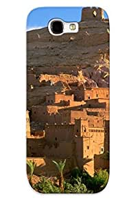 Eatcooment Rugged Skin Case Cover For Galaxy Note 2- Eco-friendly Packaging(kasbah Ruins)