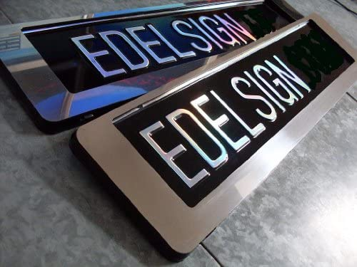 1 EDELSTAHL Kennzeichenhalter INOX LINEAR 460 für 46 cm kurze Nummernschilder