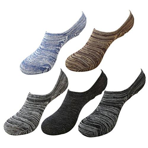 アロング団結するトランスミッションZhhlinyuan 良質 Mens Breathable Cotton Low Cut 靴下 Summer 5 Pairs Fashion Sports 靴下