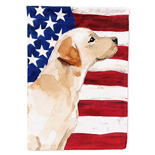 Caroline's Treasures BB9388CHF Yellow Labrador #2 Patriotic Decorative House Flag, Size