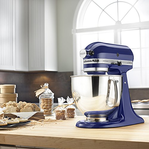 KitchenAid KSM150PSBU Artisan Series 5-Qt. Stand Mixer with Pouring Shield - Cobalt Blue by KitchenAid (Image #3)