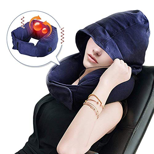GagaKing Massage Pillow with Bluetooth headset Adjustable Vibration Massager with Heat,Home/Office Chair Massager, Neck, Shoulder, Back, Waist Massage Travel Pillow -