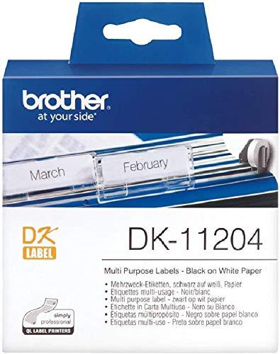 Brother DK-11204 Tecnología de impresión térmica directa negro/blanco