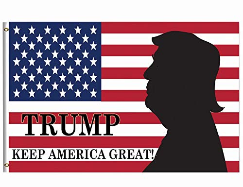Wamika Donald Trump 5×8 FT Flag Brass Grommets Breeze Funny Patriotic Keep America Great President Star Striped US American Flag Garden House Banner Double Stitched Indoor Outdoor Home Decor Review