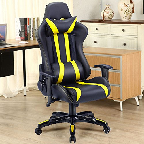 51SiyukjMUL - Giantex-Executive-Racing-Style-High-Back-Reclining-Chair-Gaming-Chair-Office-Computer-BlackYellow