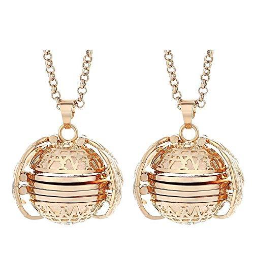 - Cherislpy 2PCS Expanding Photo Pendant Necklace 4 Photos Locket Necklace Vintage Bronze Tone Angel Wing Pendant Jewelry for Women Girls (2pcs-Rose Gold)