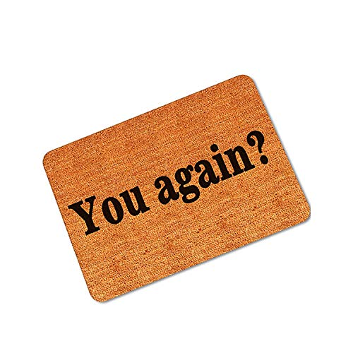 - You Again Welcome Home Front Doormat for Entrance Door Mat Outdoor Rugs Pads Anti Slip Floor Caet,You Again,45X75