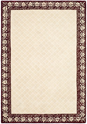 Safavieh Total Performance Collection TLP755C Ivory and Maroon Area Rug, 6 x 9