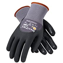 ATG 34-845/L MaxiFlex Endurance - Nylon, Micro-Foam Nitrile 3/4 Grip Gloves - Black/Gray - Large - 12 Pair Per Pack