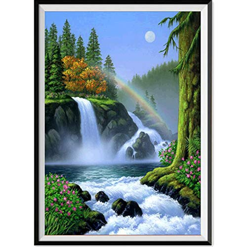 BeautyShe DIY 8D Diamond Painting Kit, Embroidery Rhinestone Cross Stitch Square Diamond Painting for Wall Decor ()