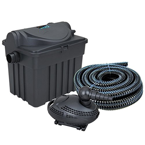 Boyu garden fish pond bio filter and pump with uv for Garden pond pump setup