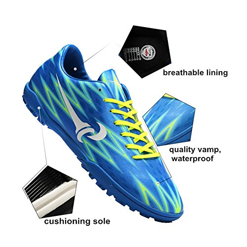 Leider Show Mens Prestatie Voetbal Schoenen Mode Training Atletische Voetbal Schoenplaten Blauw-tf