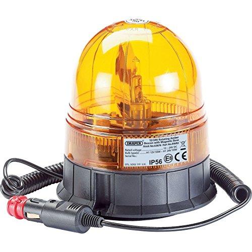 Draper 6387812/24V Base magnétique rotatif Beacon