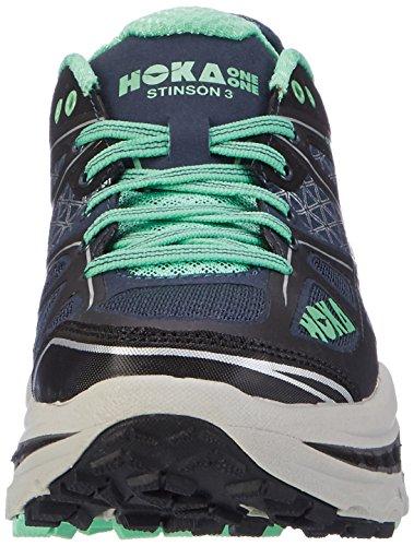 Hoka One Stinson 3 Atr, Zapatillas de Running para Asfalto para Mujer Azul (Midnight Navy/spring Bud)