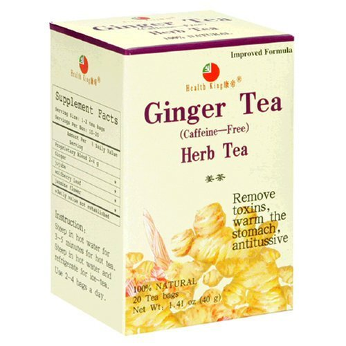 (Health King Ginger Herb Tea, Teabags, 20-Count Box (Pack of 6) by Health King)
