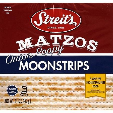 Streits onion poopy Moonstrip Matzo 11.0 OZ