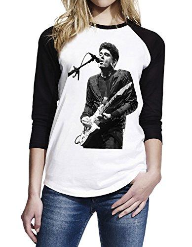 Topfusion Women's John Mayer Live Concert 3/4 Sleeve Baseball T-Shirt Size L